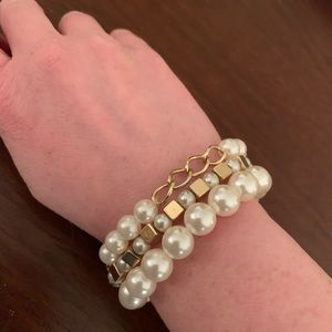 Jewelry - Three faux pearl bracelets